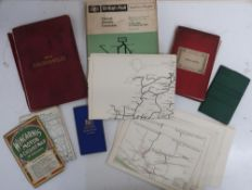 Bartholomew's Reduced Ordnance Survey four miles to the inch folding linen backed map plan of