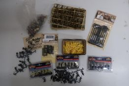 Airfix, Novo and other plastic kits, Bachmann figures, etc, in two boxes