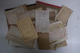 Collection of waybills, notes, receipts, etc, including Cambrian N S J & A, L & Y, Taff Valley