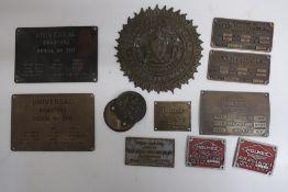 John Lowe of Manchester patent Fire and Burglar proof safe plaque, & door lock cover, seven