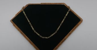9ct gold twist link necklace stamped 9ct, 45.5cm long, 18.6g