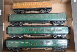 Four LMC coaches including rail motor