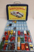 Matchbox Series 41 Collectors Case containing 47 various Lesney Superfast and other small scale