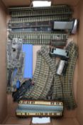 Hornby Dublo three rail with 062 LMS locomotive 6917, various rolling stock, track, some boxed,