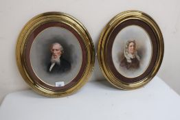 John Horsburgh of Edinburgh, pair of half length portraits of a Victorian lady and gentleman, oil on