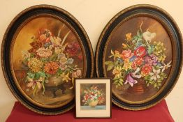 Peggy Wells, born Dora Margaret Gibbons (1903-1982): Still life studies of garden flowers, oil on