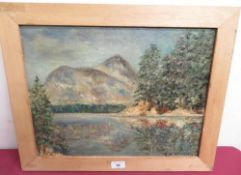 Greenup Moorson Storm (20th C): Lake District scene, oil on canvas, signed (43cm x 44cm)