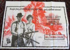 "Cinema foyer film poster ""Oklahoma Crude"" a Stanley Kramer production starring George C Scott,"