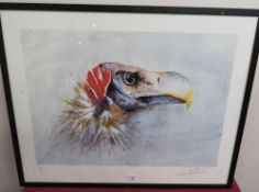 """Johnathan Poole: """"Vulture"""", limited edition artist proof print No.2, signed in pencil (59cm x 75cm)"""