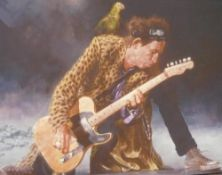 Sebastian Kruger, 'Pirate Keith' Giclee print on canvas with highlights, signed limited edition 7/