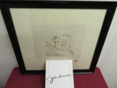 """John Lennon (1940 - 1980): """"Look"""" Study of Shaun Lennon limited edition lithograph from 1997, with"""