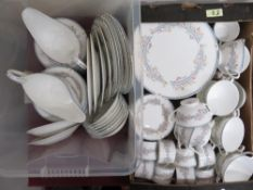 Coalport 'April' 12 piece dinner service including dinner plates, side plates, tureens, cups and