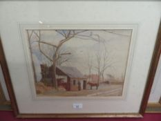 A. Goodfellow (EXB. 1880 - 1893): The Smithy, watercolour, signed and dated 1866, (25cm x 33cm)