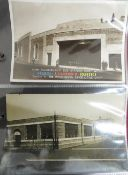"""Thirty seven real photographic advertising and promotional postcards """"The White Haven, Brick And"""