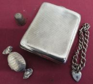 Box in the form of a wrapped, boiled sweet, stamped CME 925, George V engine turned silver curved