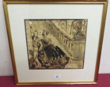 """Philip Core R.A. (1951 - 1989): """"Spanish Dancers"""", watercolour, signed, (25cm x 29cm)"""