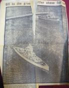 Interesting scrap-work album of various newspaper cuttings relating mostly to WWII, including