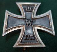 German WWI iron cross breast badge with lapel pin No.12.3 Ballonbeobachter Ludwig Menzel, 1916