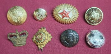Selection of various assorted military buttons, British and foreign