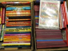 Collection of children's books and annuals including Biggles, Cuise of the Condor, various Dandy,