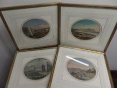 Set of four colour prints of Scarborough, North Gate of Castle, View from the Sands & Esplanade etc,