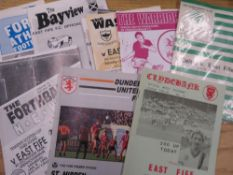 Victorian newspaper, a collection of post 1970s East Fife home and away football programmes