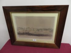 J W Ramsden, Duncomb Park, lith by W et R Hanson, in rosewood frame, 25cm x 40cm
