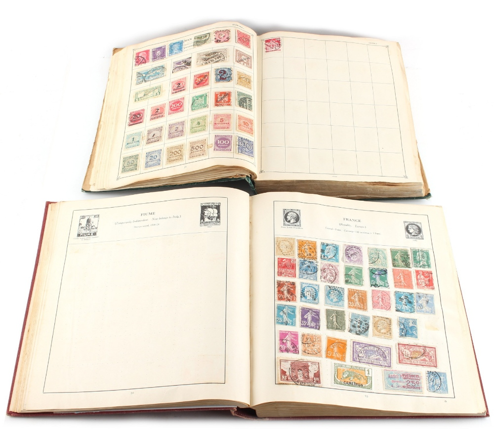 Lot 286 - Property of a gentleman - two stamp albums (2).