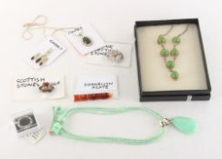 Property of a lady - a quantity of costume jewellery including a Scottish brooch.