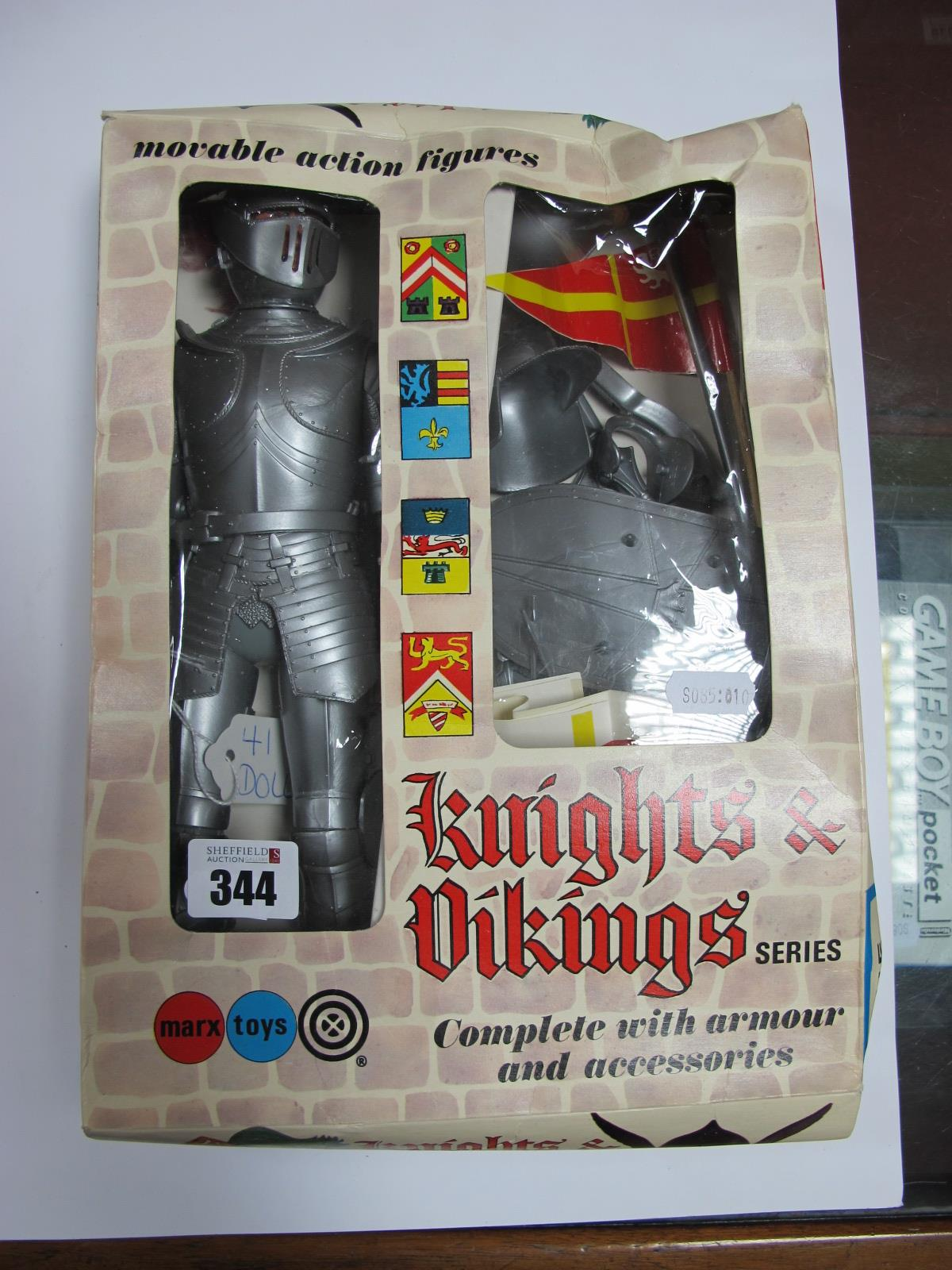 Lot 344 - A 'Sir Roland' Knight Action Figure, by Marx Toys, appears little used with accessories,