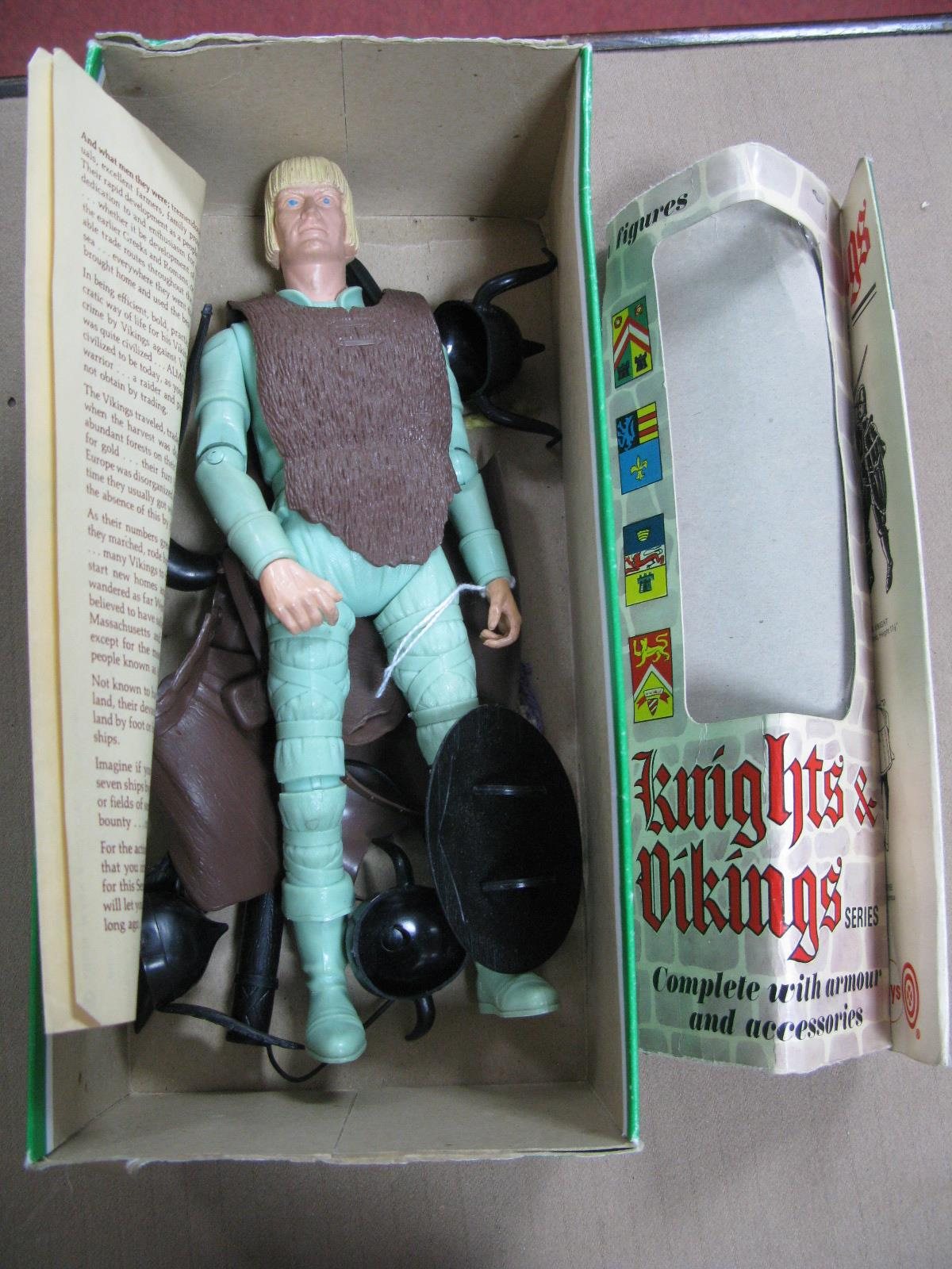 Lot 471 - An 'Erik' The Viking Action Figure, by Marx, with many accessories/instructions and part box.