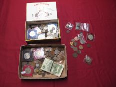 A Mixed Collection of G.B. and Overseas Base Metal Coins, to include Swiss 2 Francs 1968, Canada 2