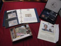 A Collection of Approximately Twenty Banknotes, including four Banque De L'Algerie Cinq Francs