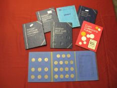 Seven Great Britain Coin Collector Folders, including Whitman Great Britain Shillings Collection