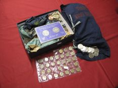 A Quantity of Predominately G.B. Pre-Decimal Base Metal Coins, Commemorative Crowns, 1967 dated