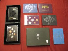 Five Royal Mint United Kingdom Annual Coin Sets, including 1970, 1977, 1980 (missing outer cover),