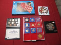 A Collection of G.B Decimal Coins, including Royal Mint 2008 BU coin collection, 2000 BU collection,