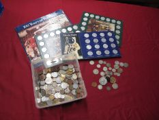 A Collection of Great Britain and Overseas Coins, to include Florin 1951 Australia, New Zealand