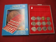 Twelve Predominantly G.B. Crown Sized Coins, including G.B Five Pounds 2004 Entente Cordiale, Five