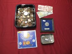 A Collection of Coins and Banknotes, to include G.B. Halfcrown 1923, Australia One Shilling 1913,