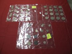 A Collection of Coins, including George III Penny, Half Rupee India 1914, George V Silver