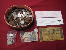 A Mixed Collection of Predominantly Overseas Coins, including U.S.A One Dollar 1972, George V Half