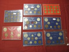 Eight Great Britain Pre-Decimal Coin Sets, to include Coinage of Great Britain 1945, Great Britain