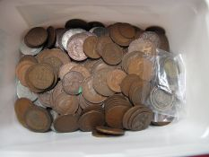 A Mixed Collection of G.B and Overseas Coins, including early Queen Victoria Shilling 1840, U.S half