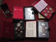 Four Royal Canadian Mint Annual Coin Sets, to include 1973, 1976, 1980, 1981, together with a