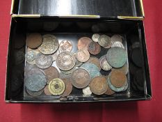 A Collection of Coins, to include Japan 2 Sen, 2 Pfenning Fredrich Wilhelm 1815, worthy of closer