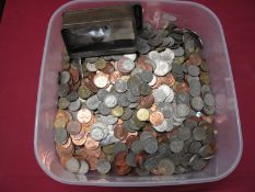 A Quantity of Predominantly G.B Decimal Base Metal Coins, assorted denominations.