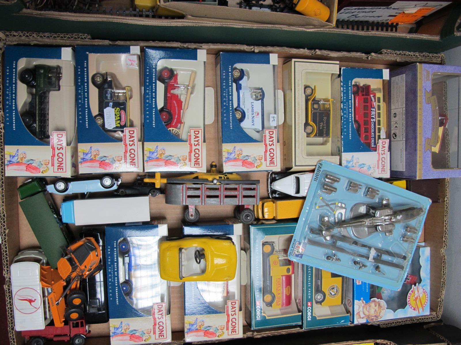 Lot 235 - A Quantity of Diecast Model Vehicles, by Lledo 'Days Gone', Tonka, ERTL, Corgi, Marx, mostly in
