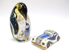 A Royal Crown Derby Paperweight 'Car', from The Treasures of Childhood Collection, no stopper,