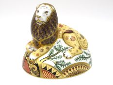 A Royal Crown Derby Paperweight 'The Nemean Lion', an exclusive edition of 750 for Connaught